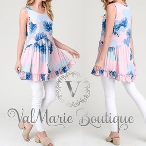 Pink Floral Baby Doll Tunic